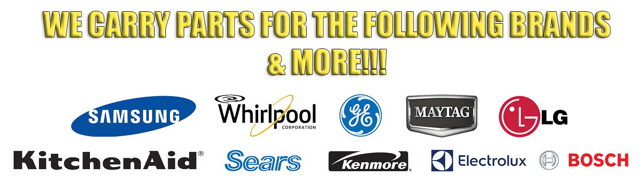 Appliance Allstars carries appliance parts for all these brands